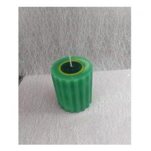 świeczka karbowana zielono-czarna