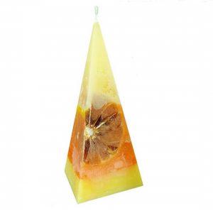świeca piramida z pomarańczą