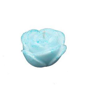 Świeczka róża błękitna